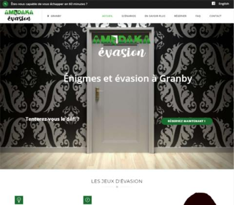 Website developed by Logiciels BouletAP - Main snapshot of Amédaka Évasion