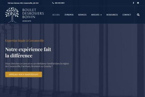 Website developed by Logiciels BouletAP - Main snapshot of Boulet Desrosiers Boivin