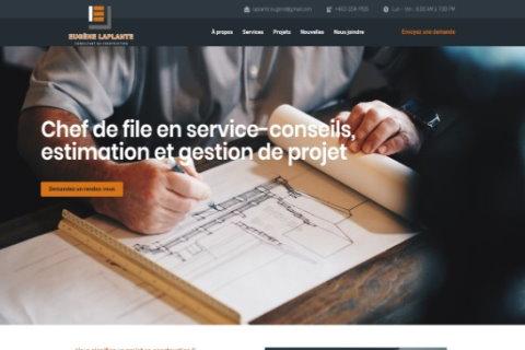 Website developed by Logiciels BouletAP - Main snapshot of Eugène Laplante – Consultant en construction