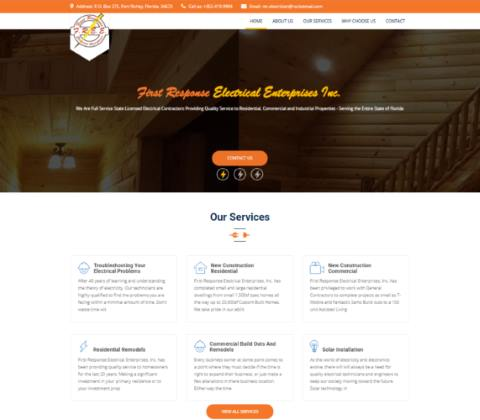 Website developed by Logiciels BouletAP - Main snapshot of First Response Electrical Enterprises Inc.