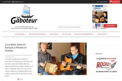 Website developed by Logiciels BouletAP - Main snapshot of Le Gaboteur