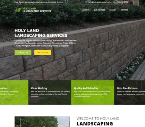 Website developed by Logiciels BouletAP - Main snapshot of Holy Land Landscaping Services