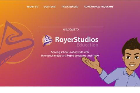 Website developed by Logiciels BouletAP - Main snapshot of Royer Studios Education