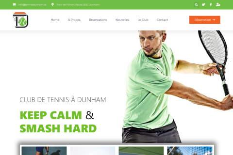 Website developed by Logiciels BouletAP - Main snapshot of Tennis Dunham